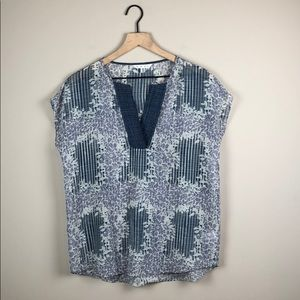 CAbi Sheer Floral Top (Size Small)